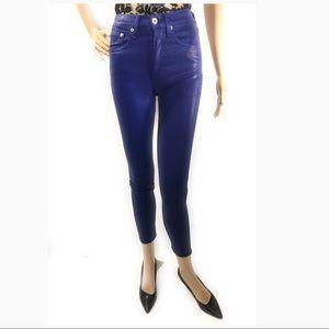 rag & bone High Rise Ankle Skinny Jeans Coated NEW